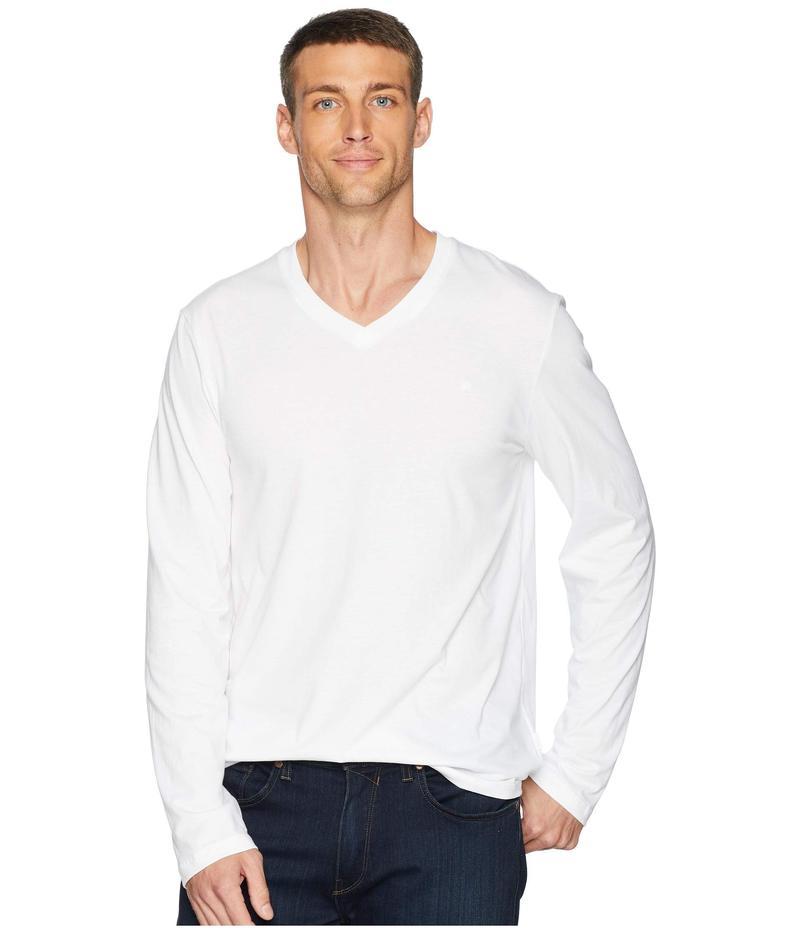 カルバンクライン メンズ シャツ トップス Long Sleeve Jersey V-Neck T-Shirt White