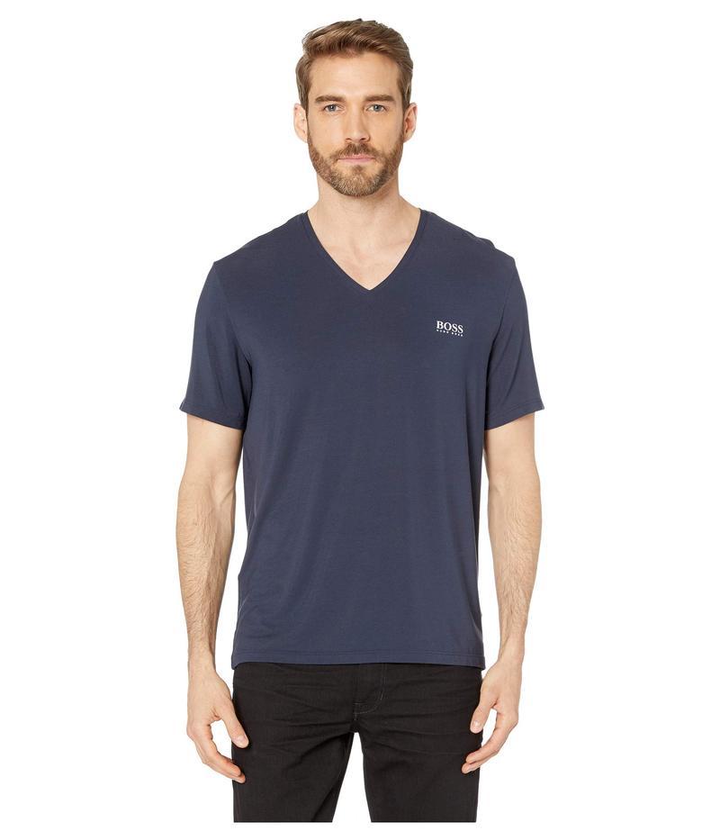 ヒューゴボス メンズ シャツ トップス Comfort T-Shirt V-Neck Navy