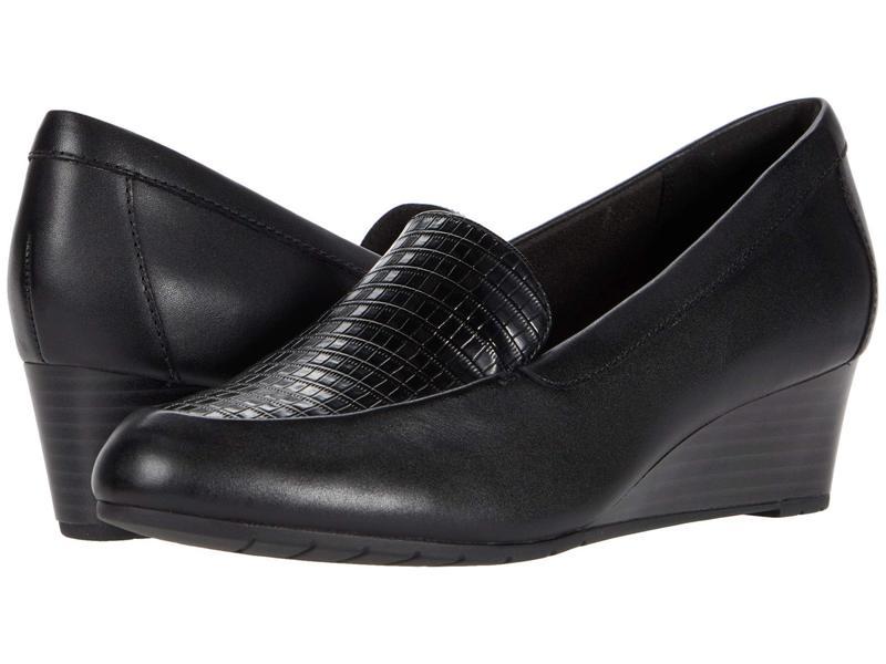 クラークス レディース ヒール シューズ Mallory Pearl Black Leather/S