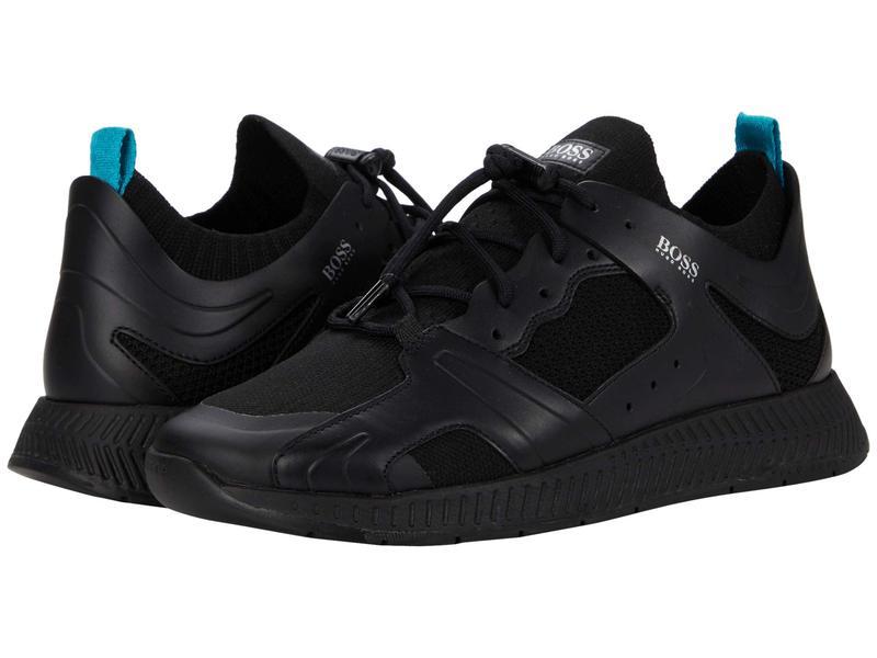 ヒューゴボス メンズ スニーカー シューズ Titanium Runn Sneakers Black