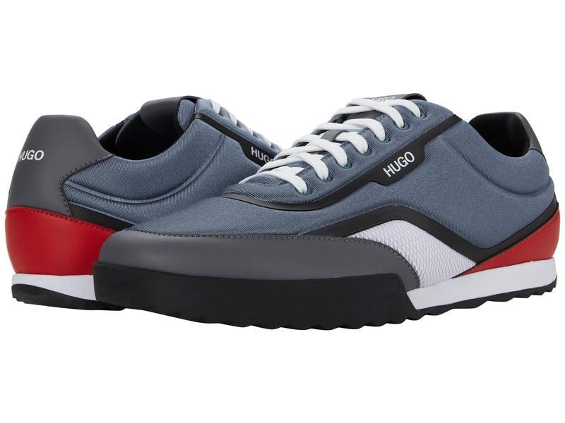 ヒューゴボス メンズ スニーカー シューズ Matrix Sneakers Open Blue