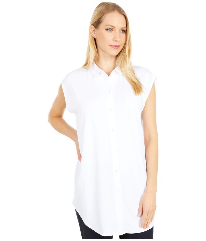 エイリーンフィッシャー レディース シャツ トップス Classic Collar Tunic White