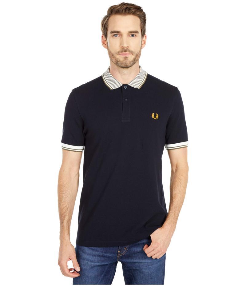フレッドペリー メンズ シャツ トップス Stripe Collar Polo Shirt Navy