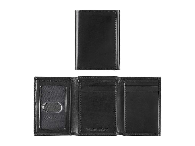 ジョンストンアンドマーフィー メンズ 財布 アクセサリー Trifold Wallet Black Full Grai