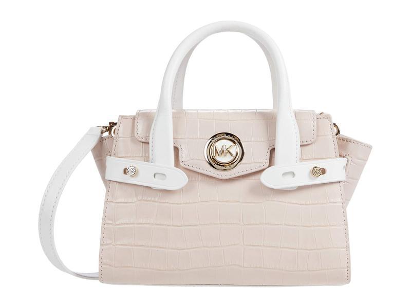 マイケルコース レディース ハンドバッグ バッグ Carmen Extra Small Flap Messenger Soft Pink Multi