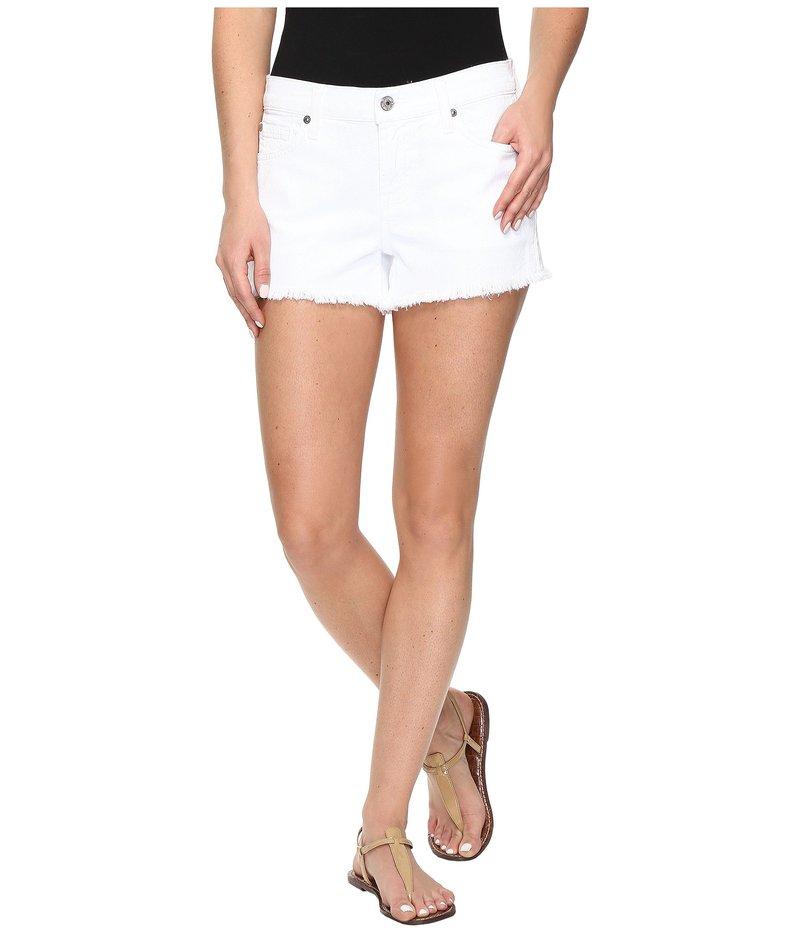 セブンフォーオールマンカインド レディース ハーフパンツ・ショーツ ボトムス Cut Off Shorts in Clean White Clean White