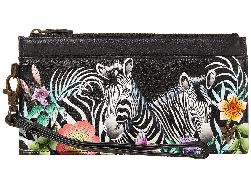 アヌスカ レディース 財布 アクセサリー Organizer Credit Card Wristlet Wallet - 1151 Playful Zebras