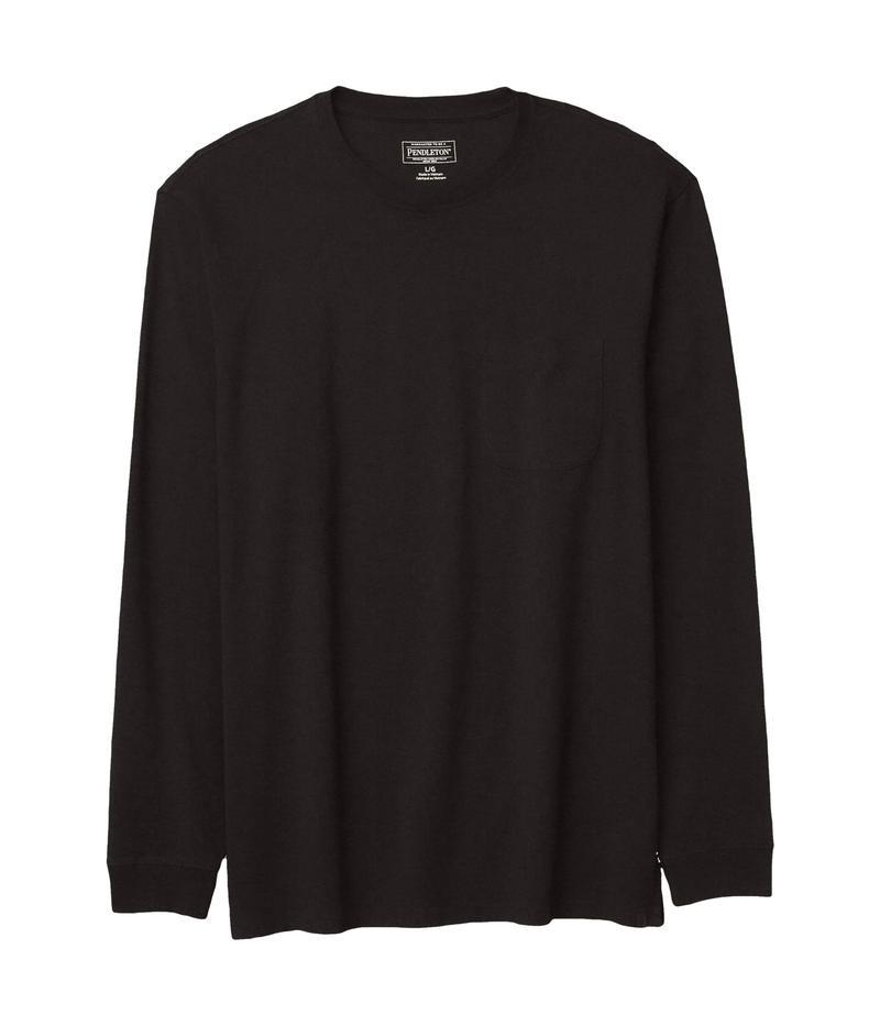 ペンドルトン メンズ シャツ トップス Deschutes Long Sleeve Pocket Tee Black
