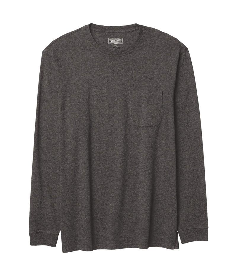 ペンドルトン メンズ シャツ トップス Deschutes Long Sleeve Pocket Tee Dark Grey Heath