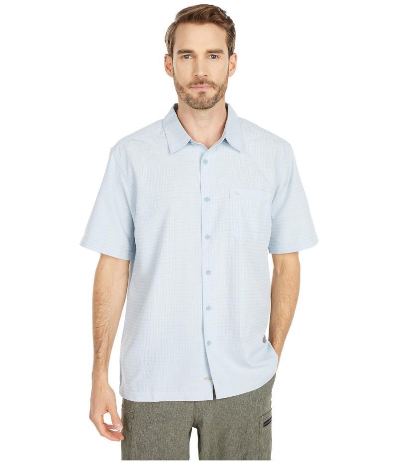 クイックシルバー ウォーター マン メンズ シャツ トップス Centinela 4 Short Sleeve Shirt Dusty Blue