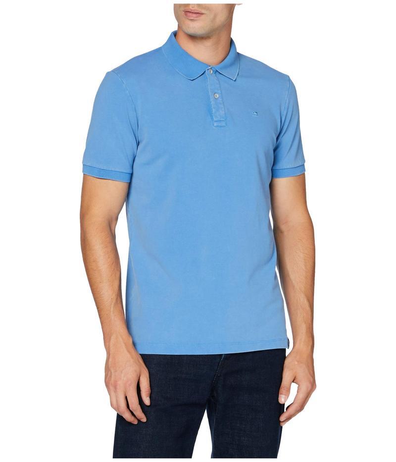 スコッチアンドソーダ メンズ シャツ トップス Garment Dyed Stretch Polo Infinite Blue:ReVida 店
