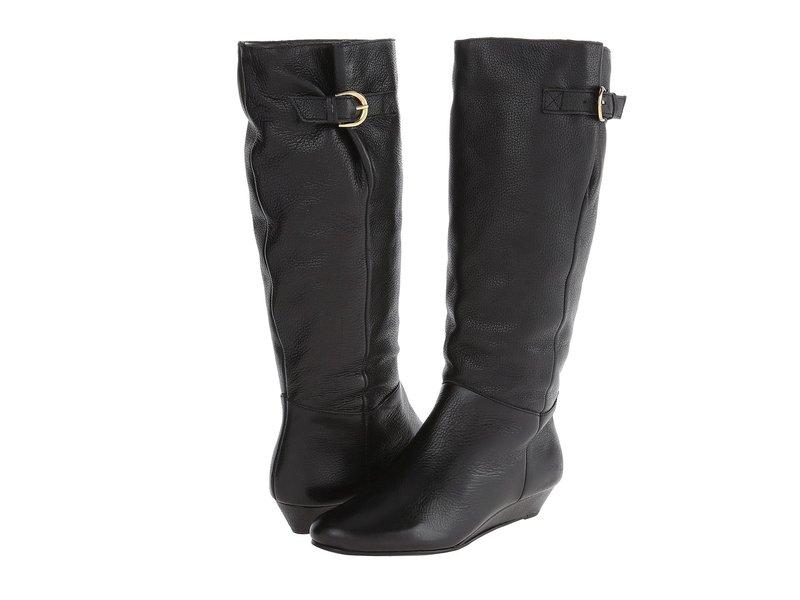スティーブン ニューヨーク レディース ブーツ・レインブーツ シューズ Intyce Wide Calf Black Leather