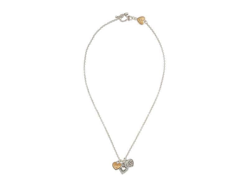 ブライトン レディース ネックレス・チョーカー・ペンダントトップ アクセサリー One Heart Short Necklace Silver/Gold
