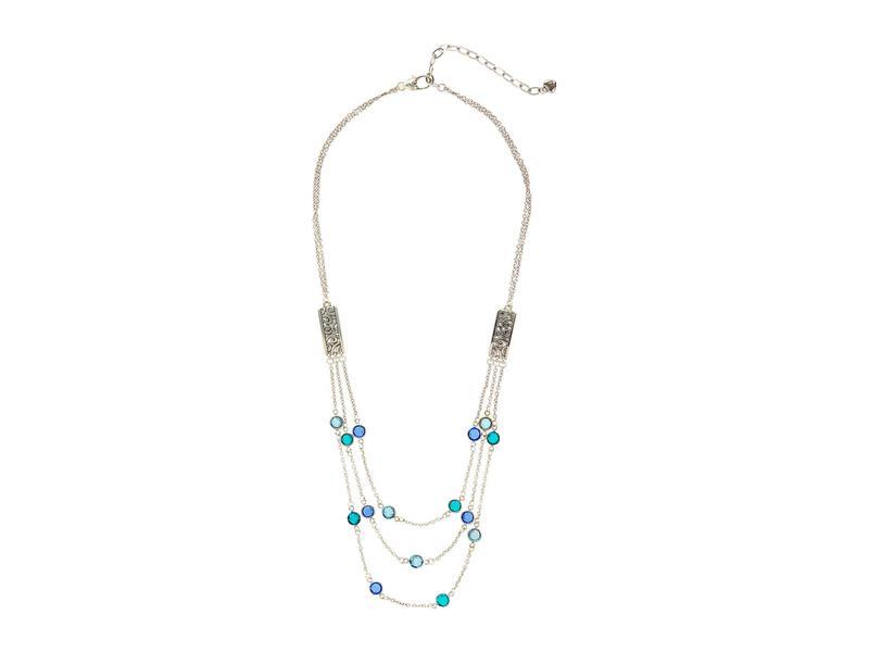 送料無料 サイズ交換無料 ブライトン レディース アクセサリー ネックレス 注目ブランド チョーカー Elora Gems 有名な Necklace Blue Multi ペンダントトップ Layer