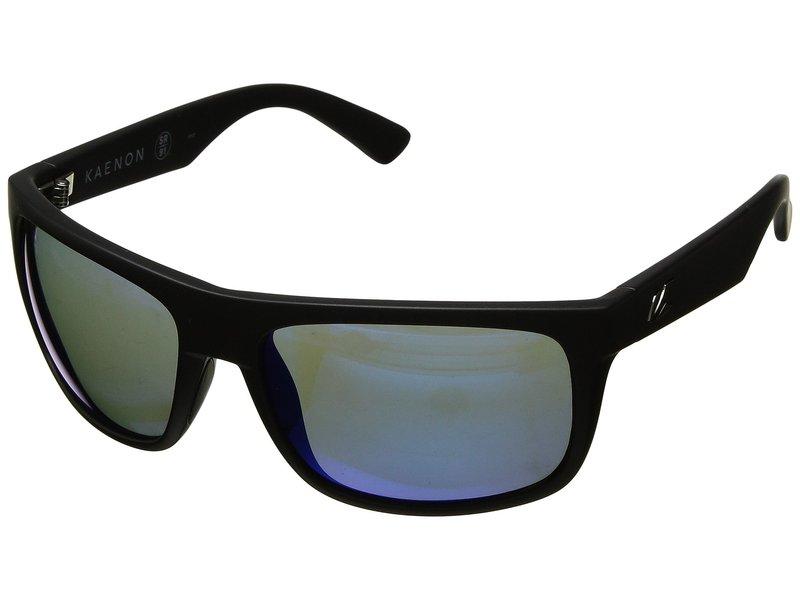 カエノン メンズ サングラス・アイウェア アクセサリー Burnet Mid Matte Black Pacific Blue Mirror