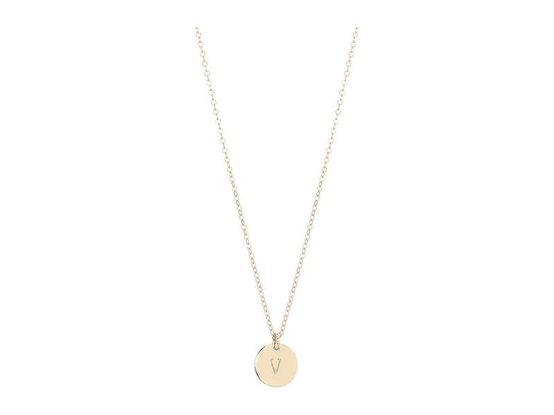 エイブル レディース ネックレス・チョーカー・ペンダントトップ アクセサリー Mini Tag V Necklace Gold