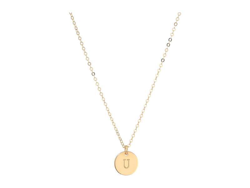 エイブル レディース ネックレス・チョーカー・ペンダントトップ アクセサリー Mini Tag U Necklace Gold