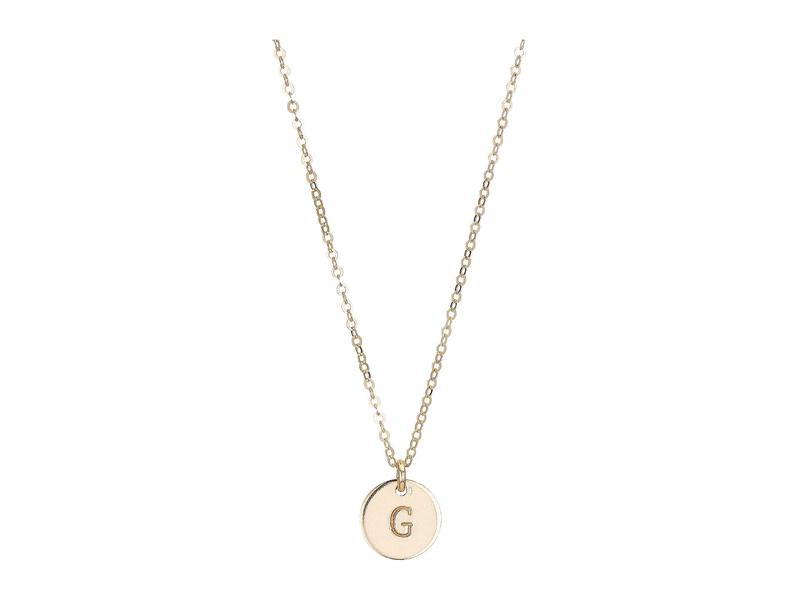 エイブル レディース ネックレス・チョーカー・ペンダントトップ アクセサリー Mini Tag G Necklace Gold