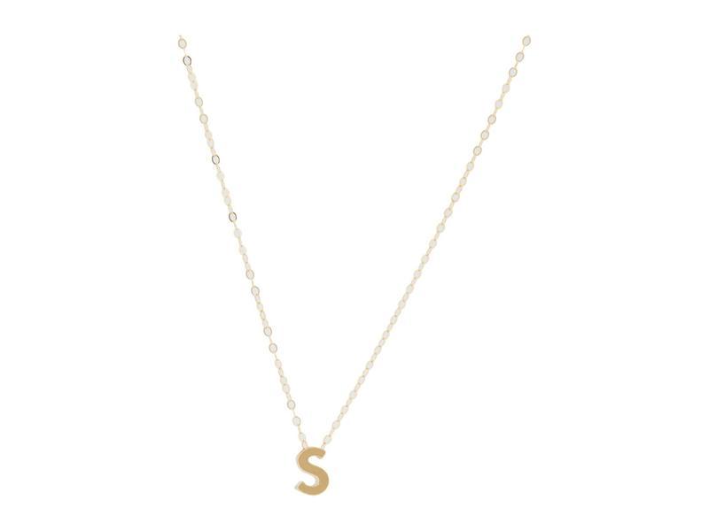 エイブル レディース ネックレス・チョーカー・ペンダントトップ アクセサリー Letter Charm Necklace: S Gold-Filled/Ver
