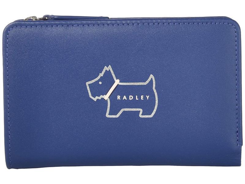 ラドリー ロンドン レディース 財布 アクセサリー Heritage Dog Outline - Medium Bifold Purse Sapphire