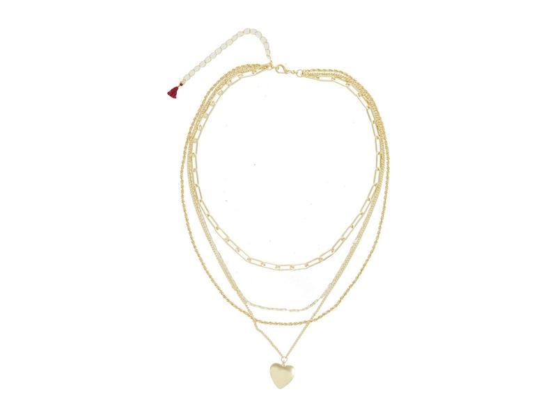 シャシ レディース ネックレス・チョーカー・ペンダントトップ アクセサリー Layer of Heart Necklace Gold