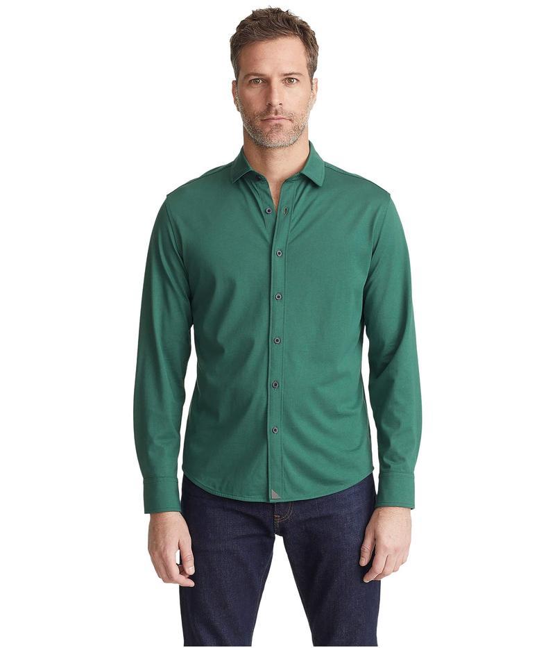 アンタックイット メンズ シャツ トップス Luxe Tee Button-Down Mid Green