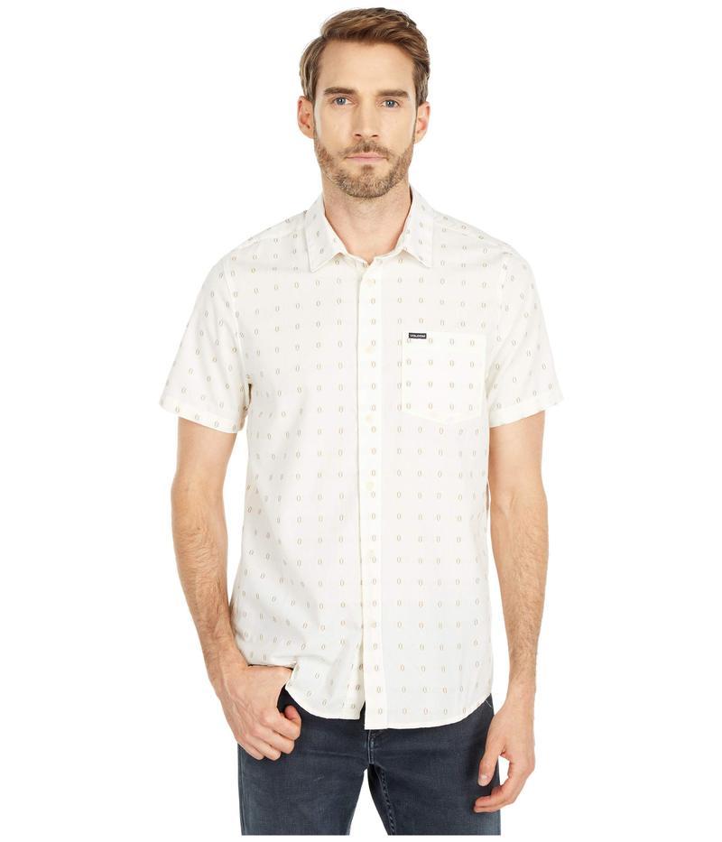 ボルコム メンズ シャツ トップス Milton Short Sleeve Button-Up Primer White