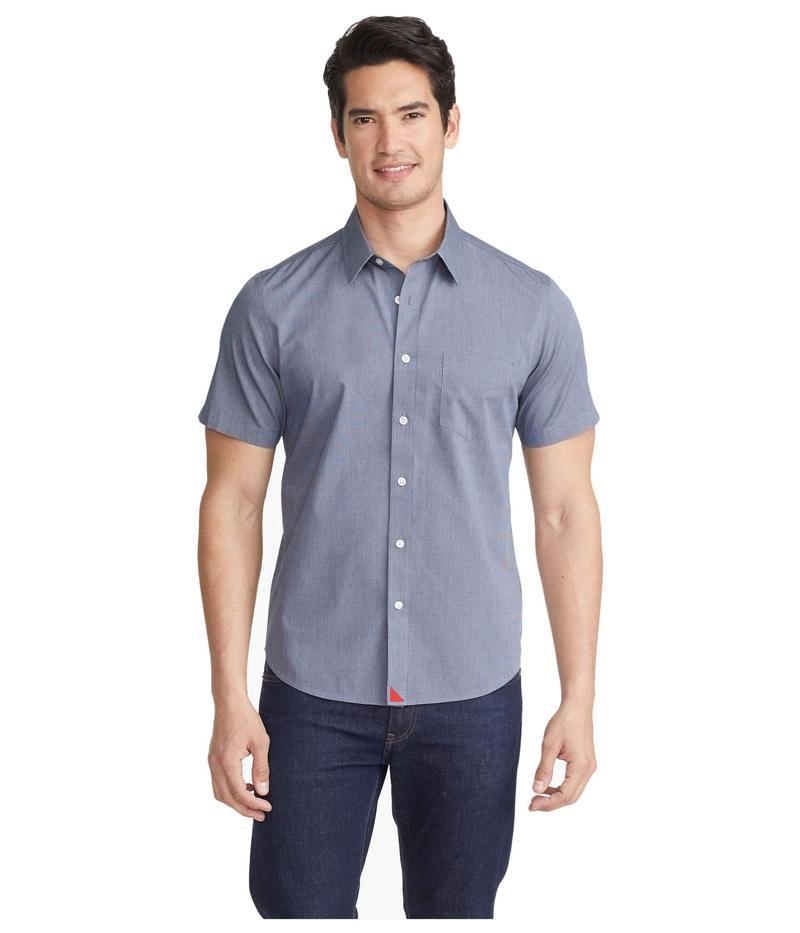 アンタックイット メンズ シャツ トップス Wrinkle-Free Short Sleeve Shirt Navy