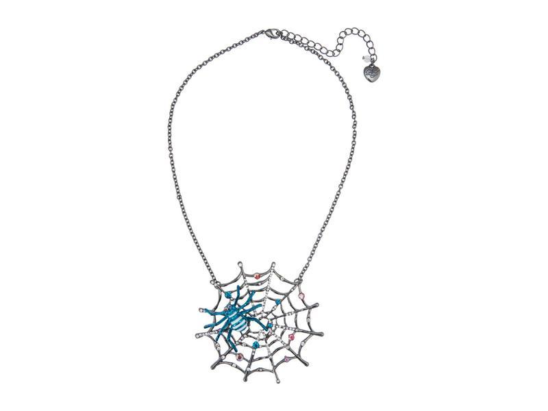ベッツィジョンソン レディース ネックレス・チョーカー・ペンダントトップ アクセサリー Spiderweb Short Pendant Necklace Teal