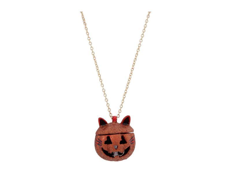 ベッツィジョンソン レディース ネックレス・チョーカー・ペンダントトップ アクセサリー Cat Pumpkin Long Pendant Necklace Orange