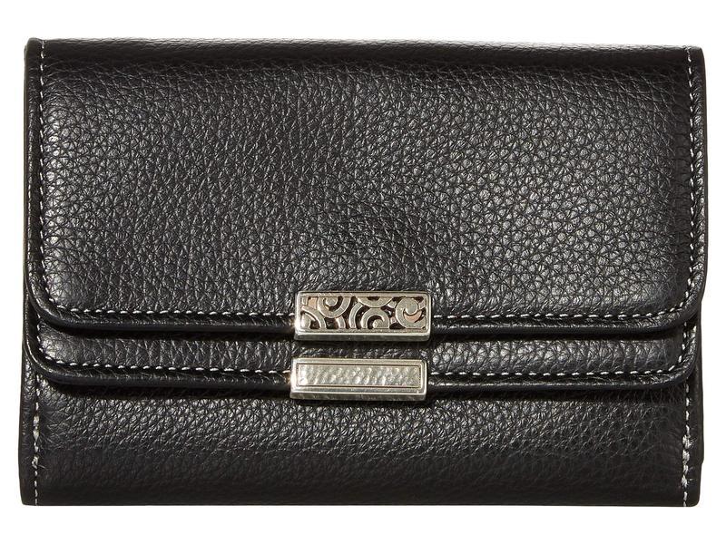 ブライトン レディース 財布 アクセサリー Barbados Double Flap Medium Wallet Black