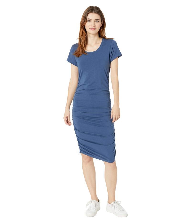 ボビ ロサンゼルス レディース ワンピース トップス Short Sleeve Shirred Dress in Modal Jersey Coast