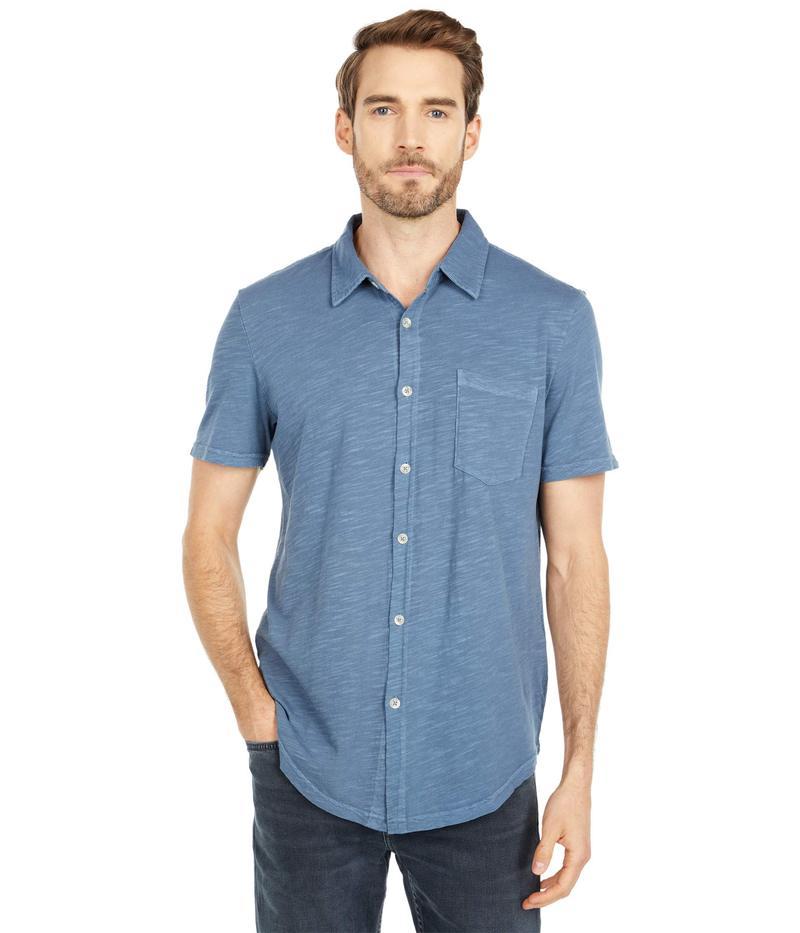 モッドドック メンズ シャツ トップス Montana Short Sleeve Button Front Shirt Smokey Blue