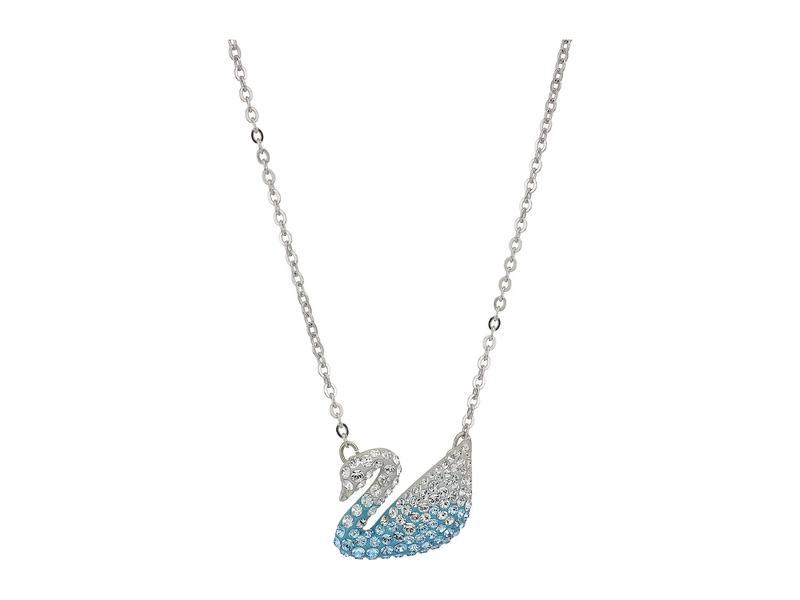 スワロフスキー レディース ネックレス・チョーカー・ペンダントトップ アクセサリー Iconic Swan Pendant Necklace Light Multi