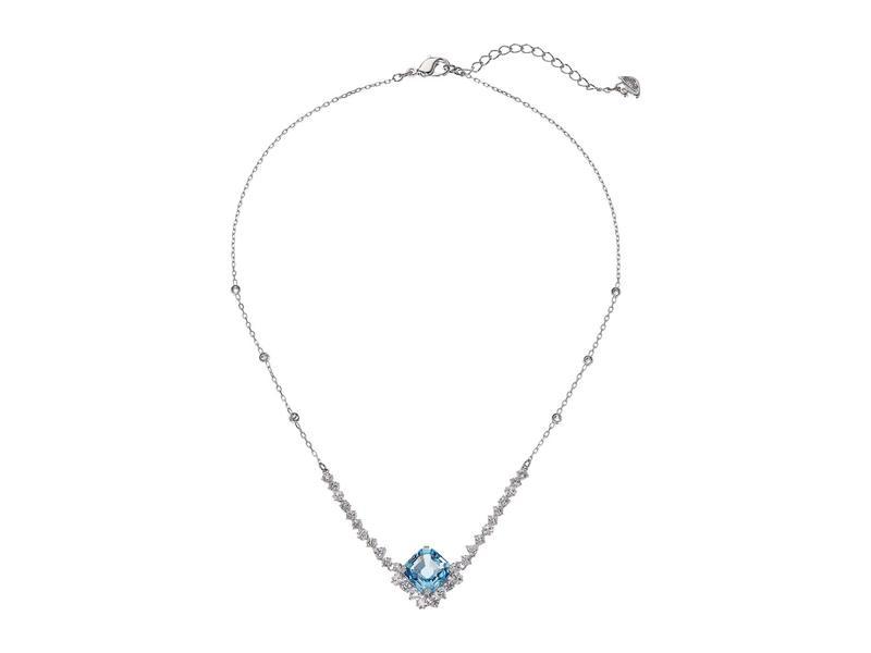 スワロフスキー レディース ネックレス・チョーカー・ペンダントトップ アクセサリー Sparkling Necklace Aquamarine