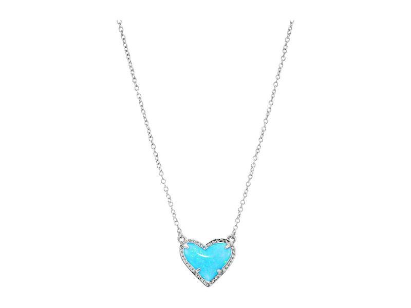 ケンドラスコット レディース ネックレス・チョーカー・ペンダントトップ アクセサリー Ari Heart Short Pendant Necklace Rhodium Ocean O