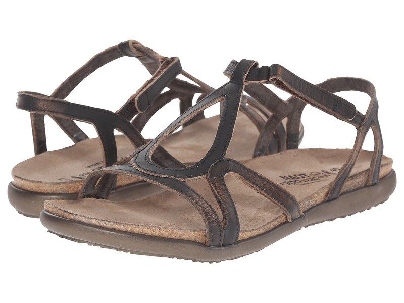 ナオト レディース サンダル シューズ Dorith Volcanic Brown Leather