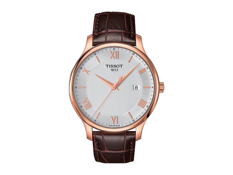 ティソット メンズ 腕時計 アクセサリー Tradition - T0636103603800 Mother-of-Pearl/Brown