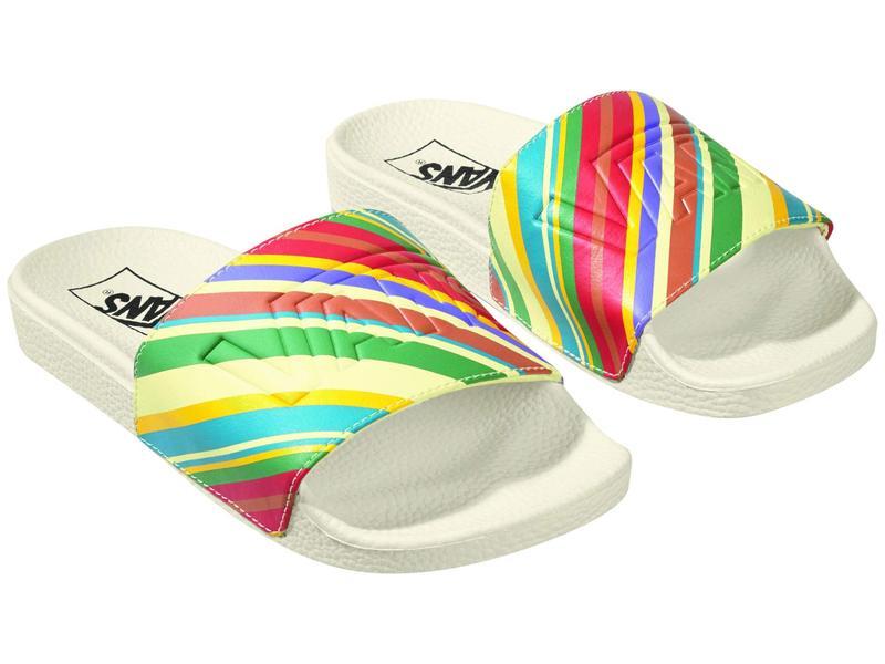 シューズ レディース Slide-On (Retro Stripes) バンズ サンダル