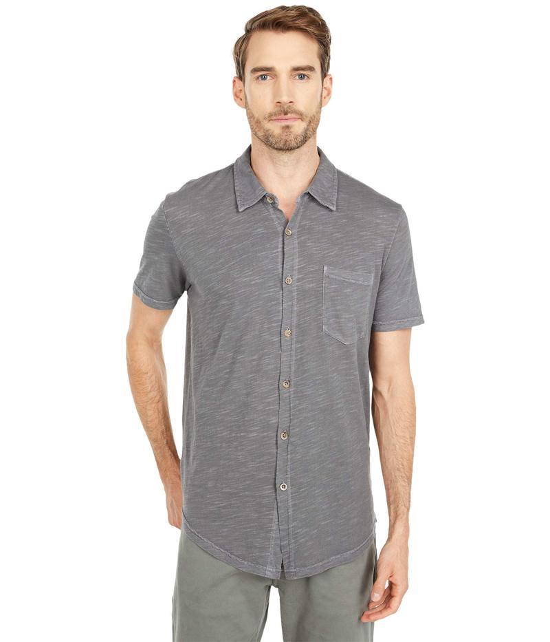 モッドドック メンズ シャツ トップス Montana Short Sleeve Button Front Shirt Titanium