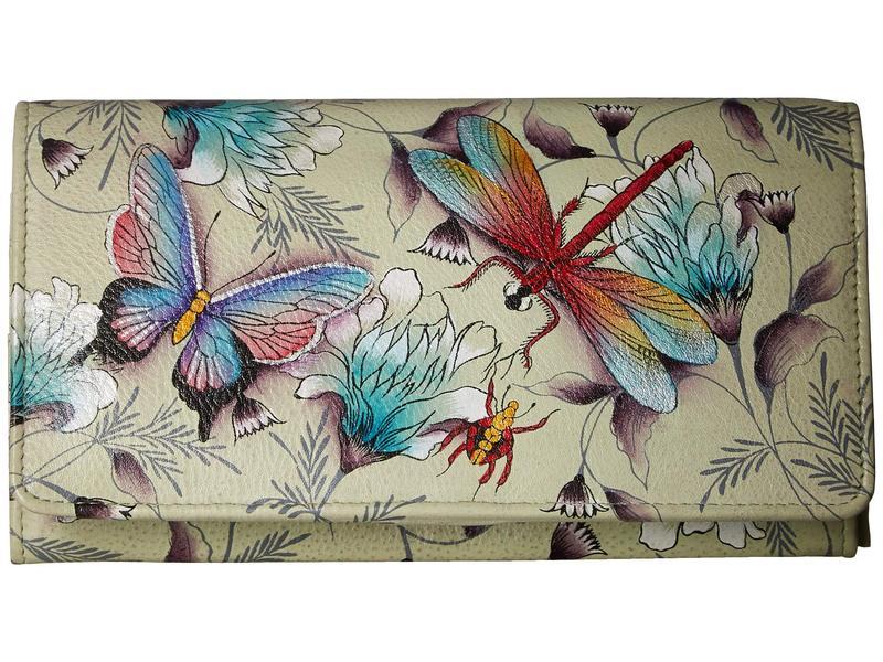 アヌスカ レディース 財布 アクセサリー 1095 Accordion Flap Wallet Wondrous Wings