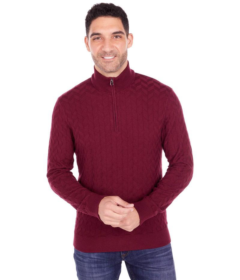 驚きの値段 送料無料 サイズ交換無料 ロバートグラハム メンズ 新作アイテム毎日更新 アウター ニット Burgundy The Vasa Sweater セーター