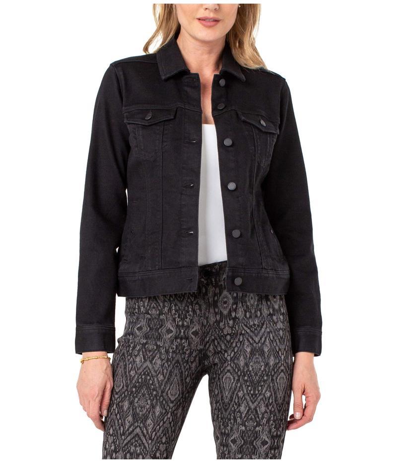 送料無料 サイズ交換無料 リバプール レディース アウター 新入荷 流行 コート Jacket Rinse Classic Black 返品交換不可 Jean