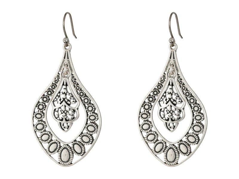 ラッキーブランド レディース ピアス・イヤリング アクセサリー Sahara Dust Filigree Oblong Earring Silver