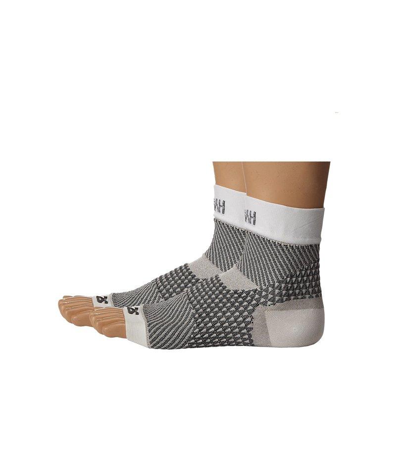 ゼンサー メンズ 靴下 アンダーウェア Plantar Fasciitis Sleeves (Pair) White