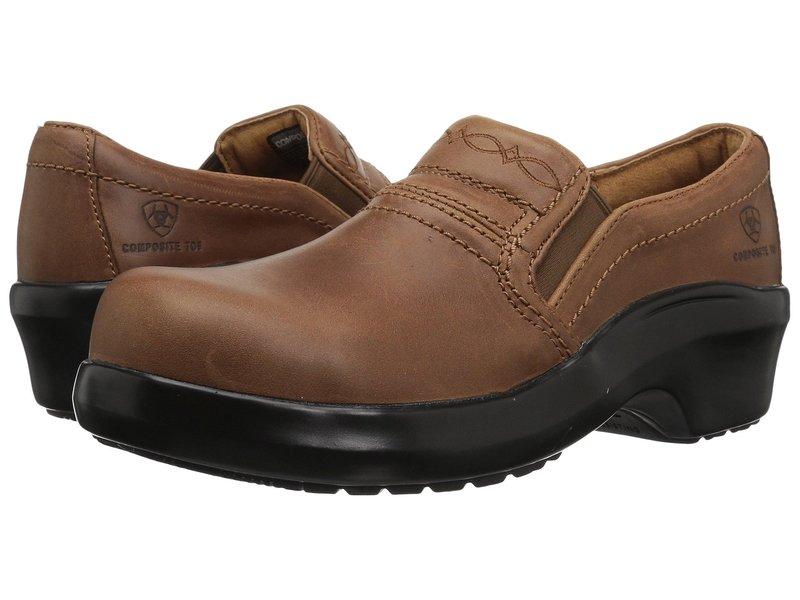 アリアト レディース サンダル シューズ Expert Safety Clog Composite Toe Brown