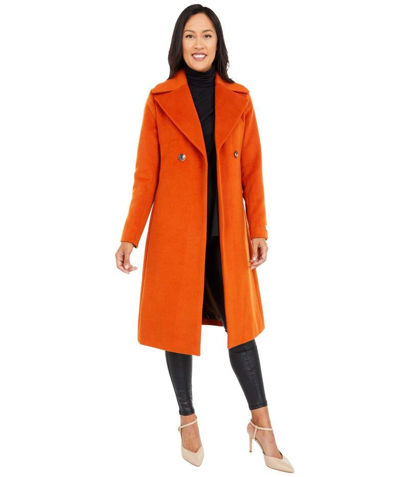 アウター Closure Wool Cinnamon コート レディース Length Mid Coat Belt カルバンクライン with