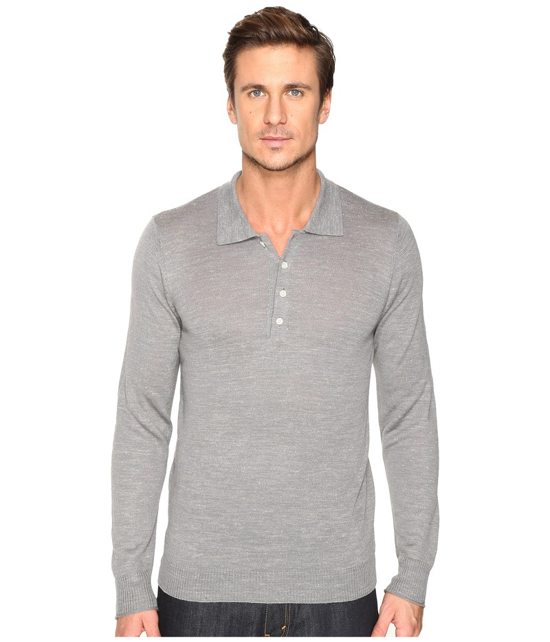 セブンフォーオールマンカインド メンズ ニット・セーター アウター Long Sleeve Polo Sweater Heather Grey