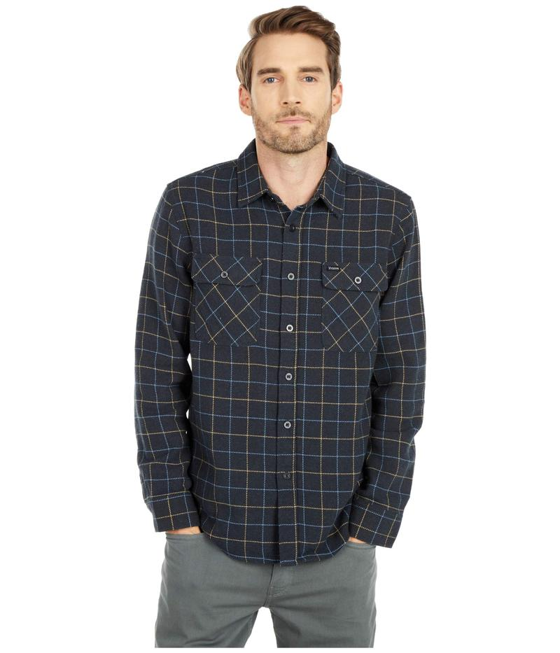 激安本物 ブリクストン メンズ Black/Blue シャツ Flannel トップス Bowery Long Sleeve Sleeve Flannel Washed Black/Blue, 青森ほたて本舗:4e330e15 --- delipanzapatoca.com