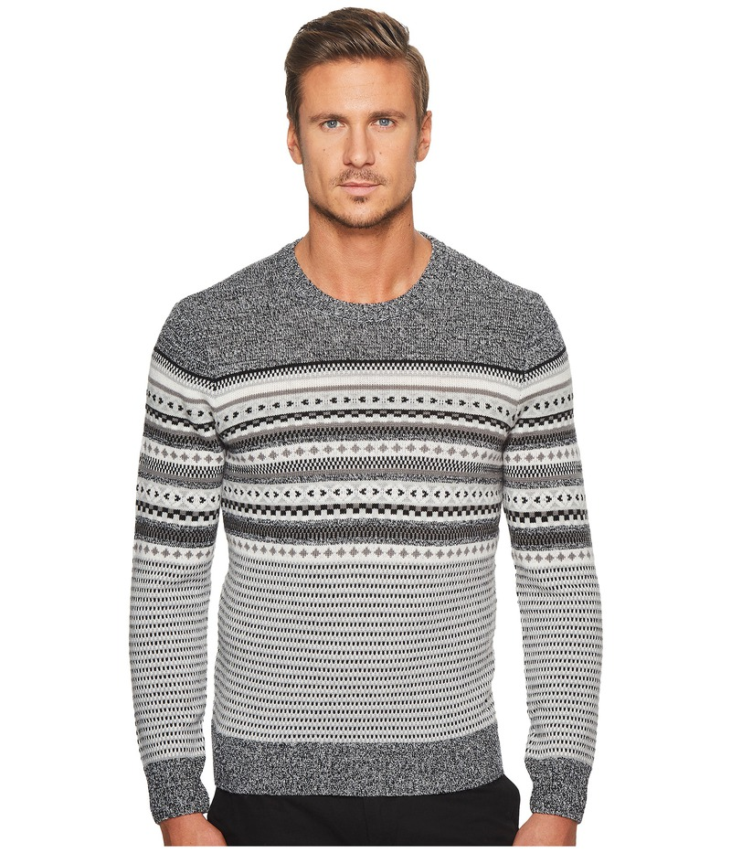 オリジナルペンギン メンズ ニット・セーター アウター Long Sleeve Engineered Fair Isle Holiday Crew Sweater True Black